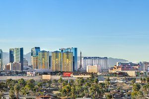 Wide Las Vegas Day Panorama