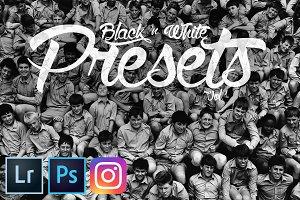 Pro Black & White Lightroom Presets