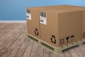 Composite image of brown cardboard