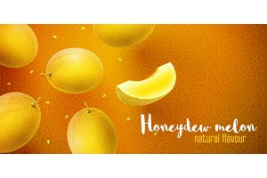 Honeydew melon sweet fruits flavour