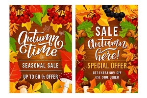 Vector Thanksgiving Day sale posters