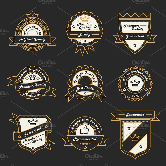 9 Label, Logo and Badge Templates