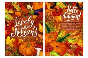 Hello autumn posters