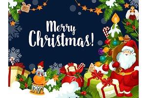 Christmas Santa greetings card