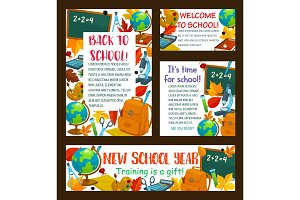 Back to School education posters