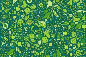 Green world background