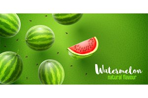 Watermelon sweet fruits flavour