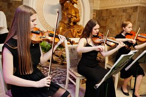 String quartet playing instruments i