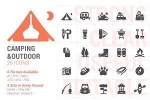 Camping & Outdoor Filled Icon