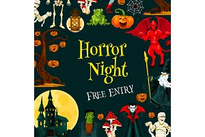 Halloween horror night party