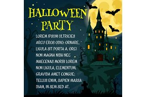 Halloween holiday festive poster