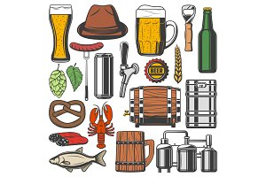 Beer and Octoberfest objects