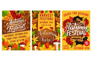 Autumn festival of harvest poster