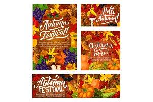 Autumn harvest festival posters