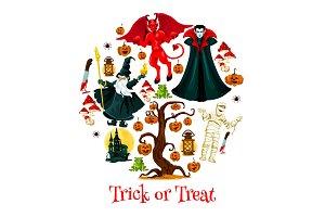Halloween trick poster design