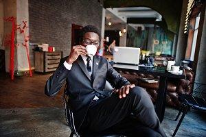 Business african american man wear o