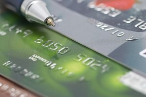 Credit cards with pen