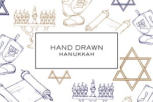 Hand Drawn Hanukkah Clipart