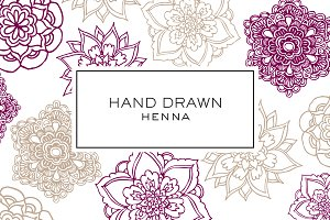 Hand Drawn Henna Clipart