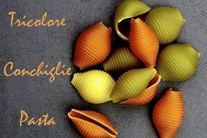 Tricolore Conchiglie Pasta