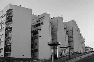 Residential Buildings in Black White