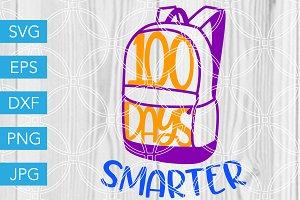 100 Days Smarter School SVG Cut File