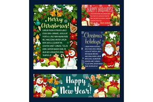 Christmas holidays greeting card
