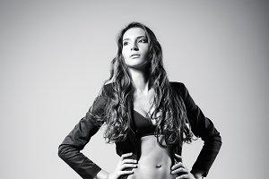 Studio fashion: beautiful sexy woman