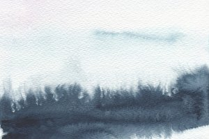 Abstract watercolor landscape blot