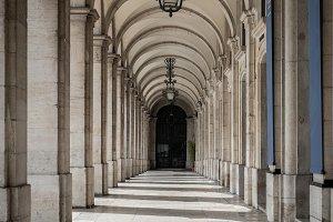 Vintage Corridor in Lisbon Portugal