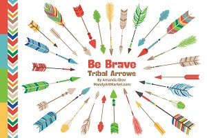 Crayon Box Tribal Arrows Clipart