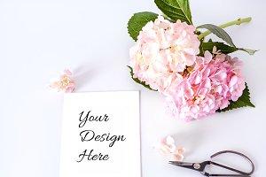 Hydrangea Card Mockup v2