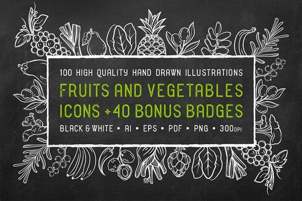 Fruits & Vegetables + Badges