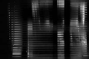 Black and white abstract window illu
