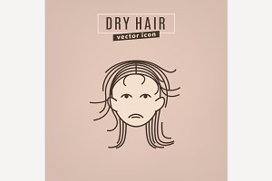 Hair problem icon