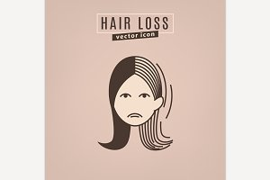 Hair loss icon