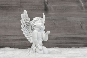 Angel snow Christmas decoration