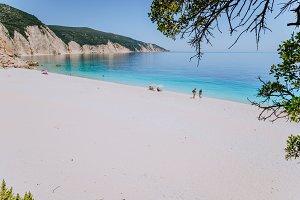 Amazing Fteri beach lagoon