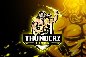 Thuderz Gaming-Mascot & Esport Logo