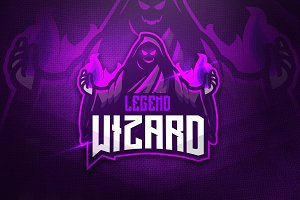 Legend Wizard - Mascot & Esport Logo