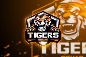 Tigers Squad - Mascot & Esport logo