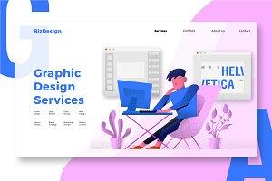 Graphic Design - Banner & Landing