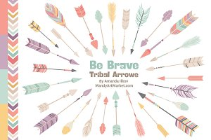 Vintage Girls Tribal Arrow Clipart