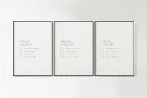 Triptych Frame Mockup - 5x7 ratio