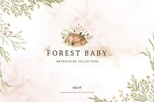 Watercolor Forest Baby by  in Illustrations