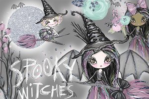 Halloween Clipart, witch graphics