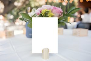 Wedding Party Table Number Mockup