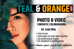 Orange & Teal 30 Cinematic FILM LUTS