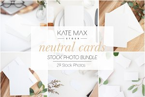 Neutral Card Mockups Bundle