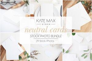 Neutral Card Mockups Bundle
